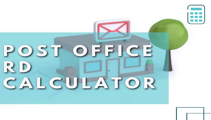 Post Office RD Calculator