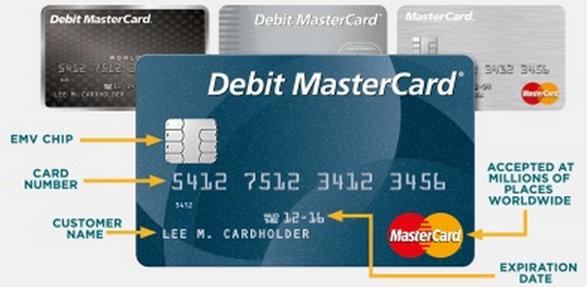 Debit card front