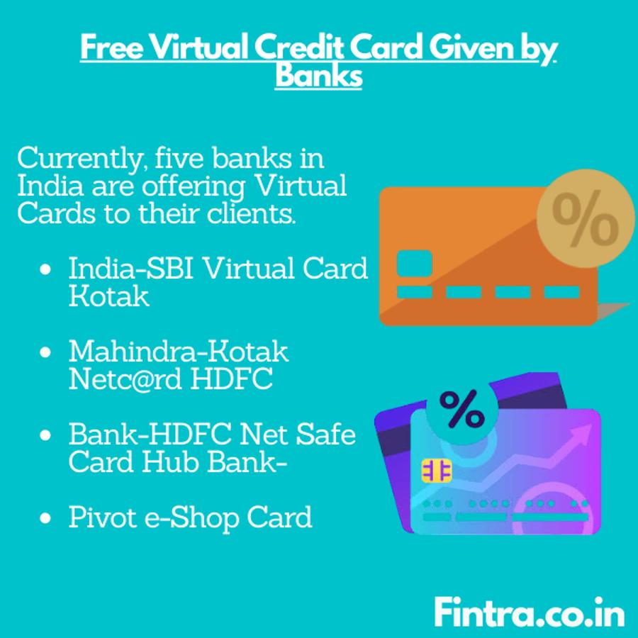 Banks Giving Virtual Cards