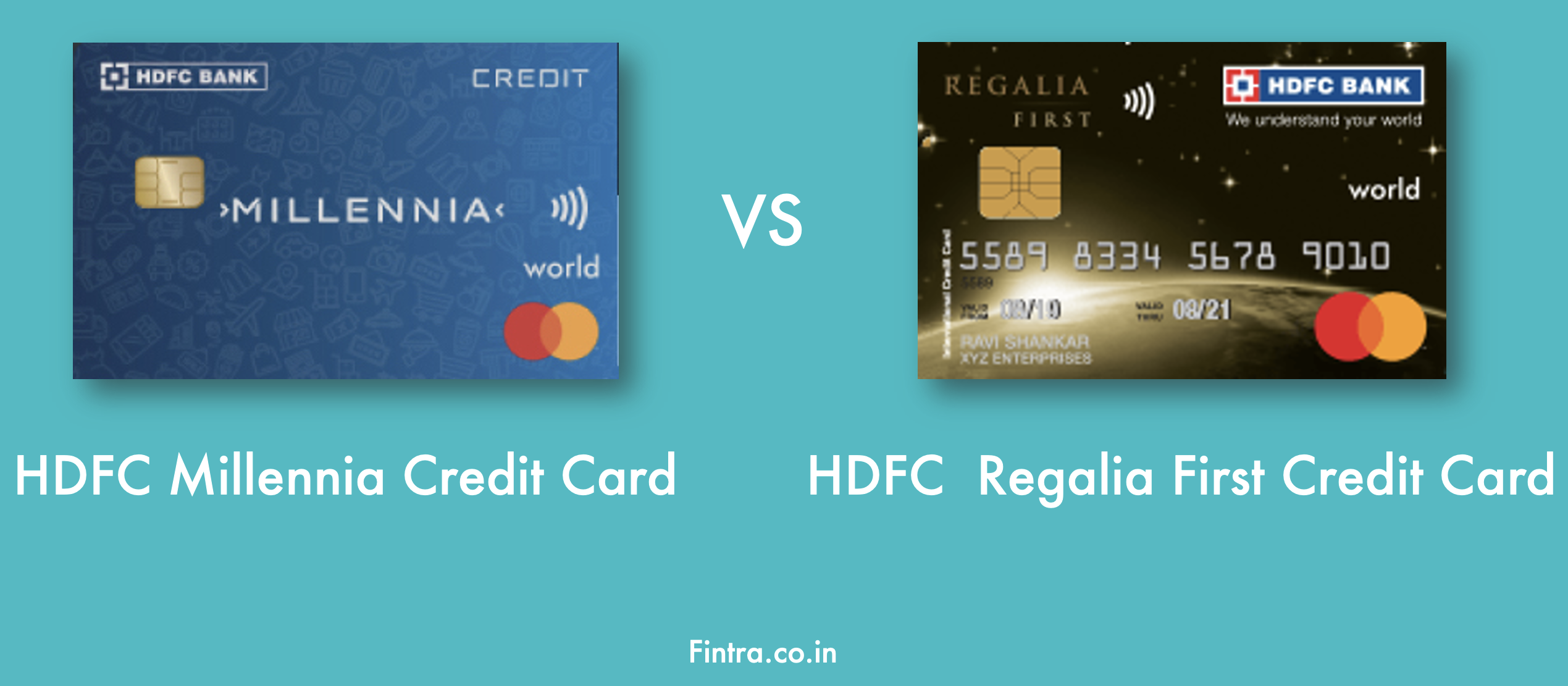 Compare the Top Two Credit Cards of 2021- HDFC Millennia Credit Card VS Regalia First Credit Card