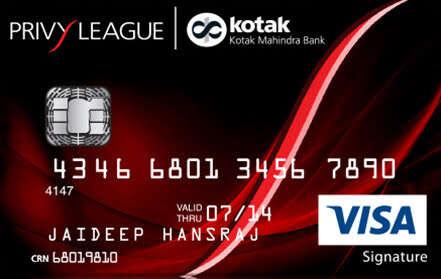Kotak Privy League Signature Credit Card