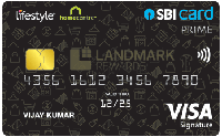 Lifestyle HC SBI Card PRIME