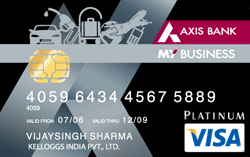 My Business Credit Card – Axis Bank