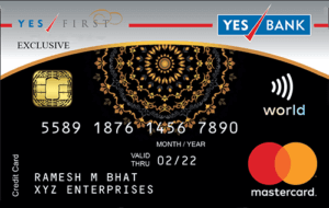 YES FIRST Exclusive Credit Card