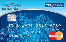 YES Prosperity Cashback Plus Credit Card